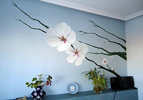 pintura decorativa en interiores, habitaciones y dentro de casa